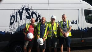 Alan, John, Jason & Michal on DIY SOS