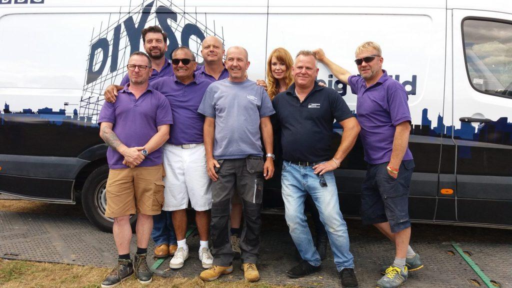 Alan Layton & Jason Bradshaw with DIY SOS Team
