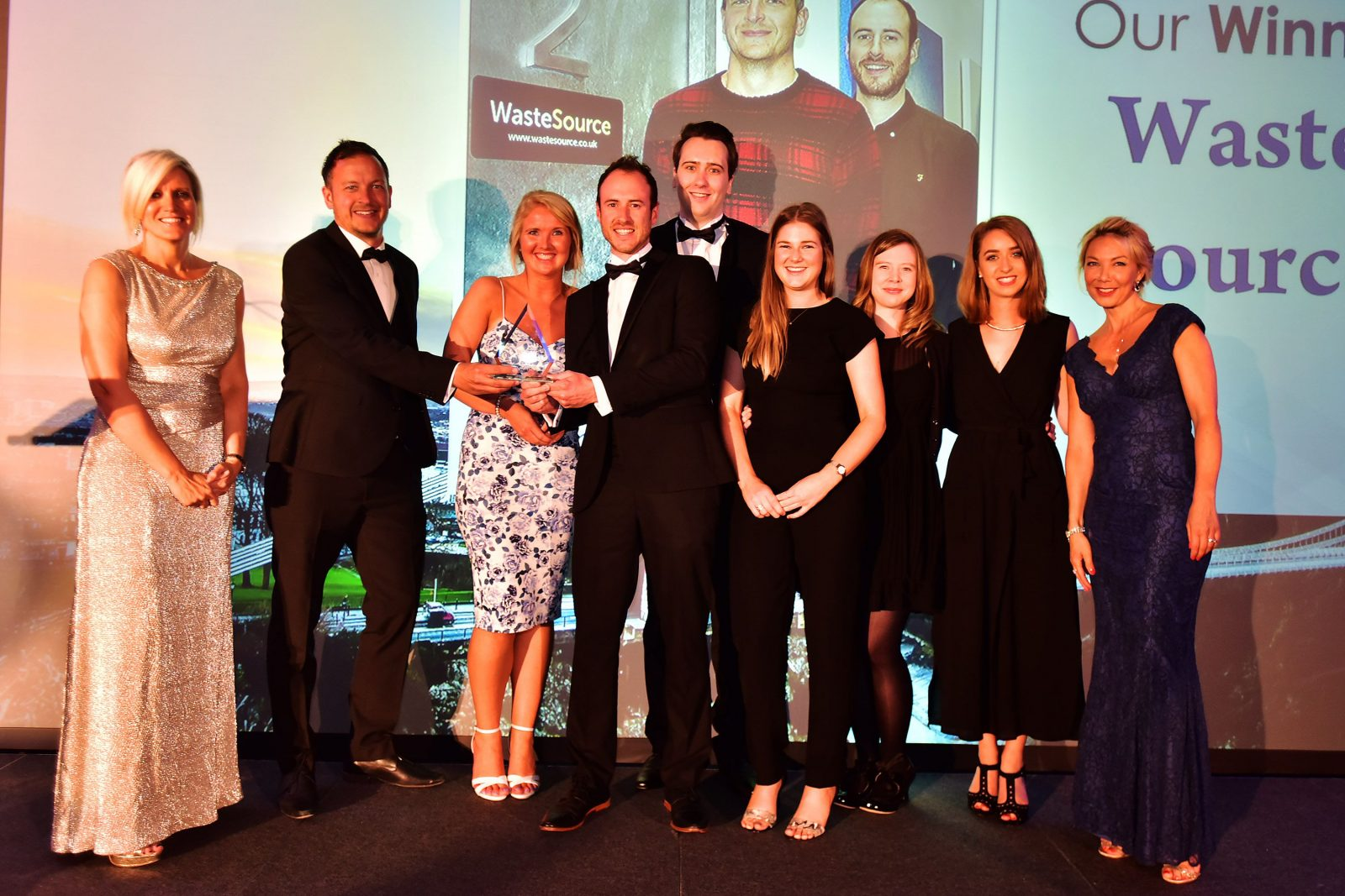 Team Photo of Waste Source at the Bristol Post Awards 2017