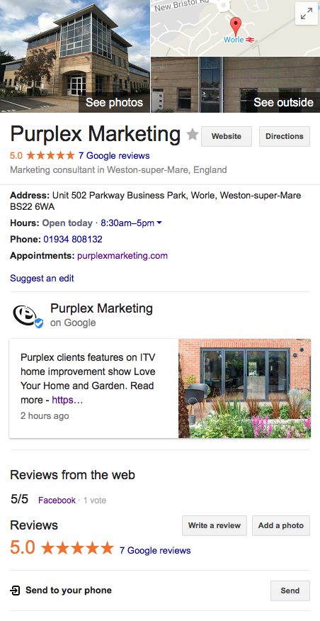 Purplex Google My Business