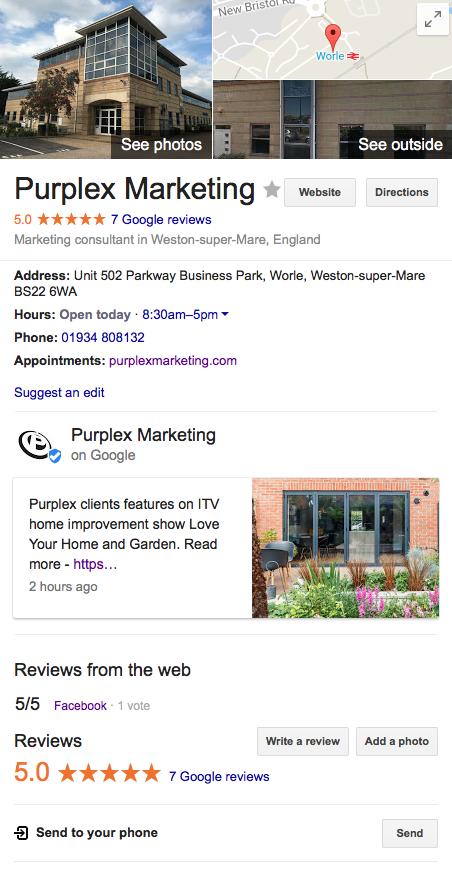 Purplex Google My Business