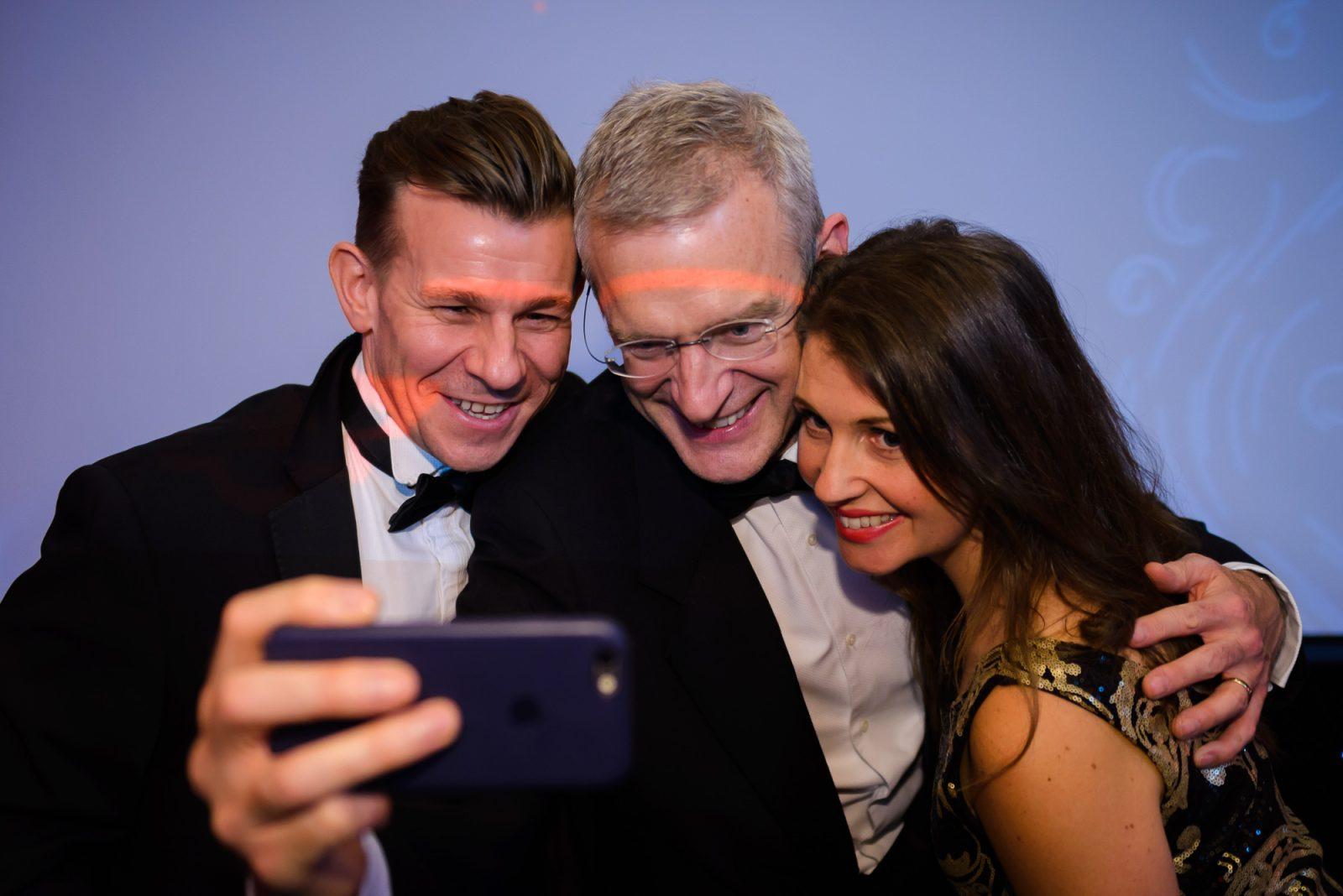 Business Leader Awards - selfie with Jeremy Vine