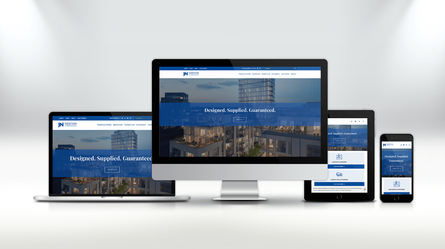 Newton Waterproofing new website 2020