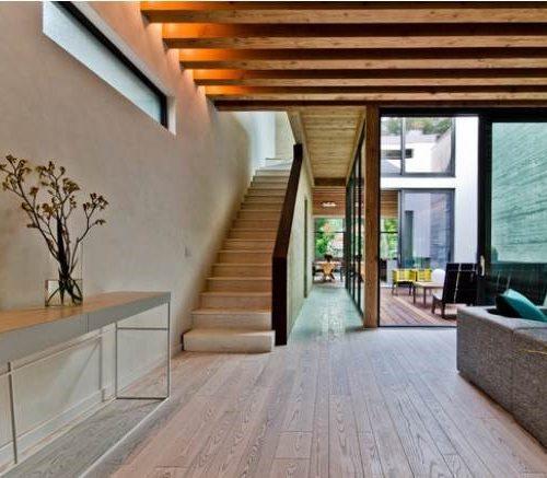 Entrance hallway to house