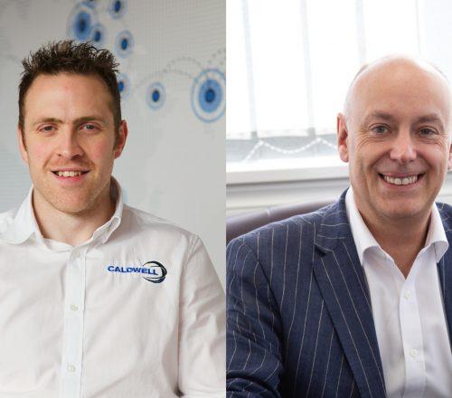 Tim Ferkin, Caldwell's Market Development Director (left) and Andrew Scott, Purplex's MD (right)